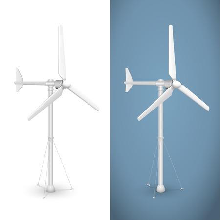 wind turbine: �olienne Eco. Vecteur isol� de g�n�rateur �lectrique �olienne.