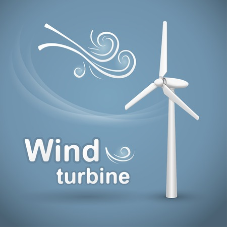 Windkraftanlage. Windkraftstromgenerator. Standard-Bild - 25549927