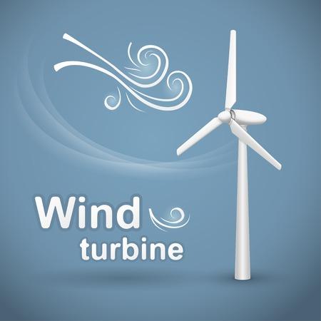 Windturbine. Wind-aangedreven elektrische generator.