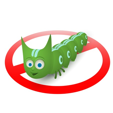 wriggle: Green caterpillar pest runner is moving  too fast to stop it