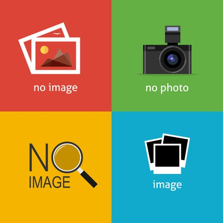 Geen afbeelding tekenen voor webpagina. Internet pictogram om de afwezigheid van het beeld aan te geven totdat het wordt opgehaald. Stockfoto - 34581353