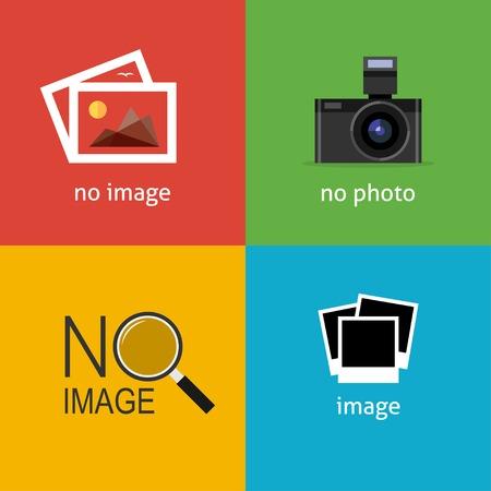 imagen: No hay señales de imagen para la página web. Icono de Internet para indicar la ausencia de imagen hasta que se descargará.