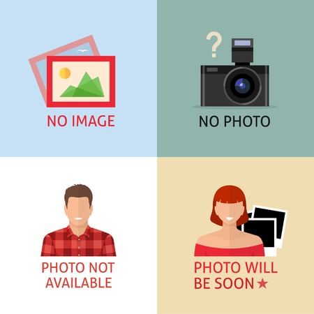 No image or photo creative signs. Internet web icon to indicate the absence of image until it will be downloaded. Vector