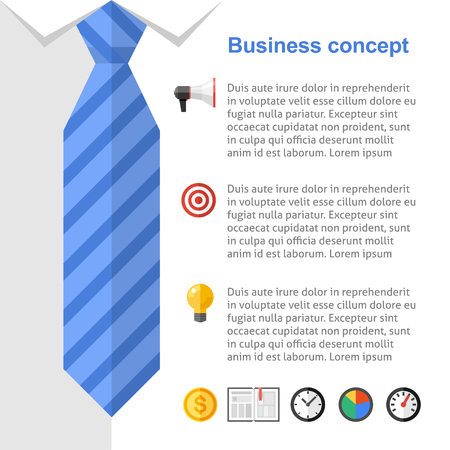 Business-Strategie-Präsentation. Ersetzen Sie Ihren Text, wählen Sie benötigten Symbole, um Ihr Unternehmen Rutsche bereit. Standard-Bild - 38816490
