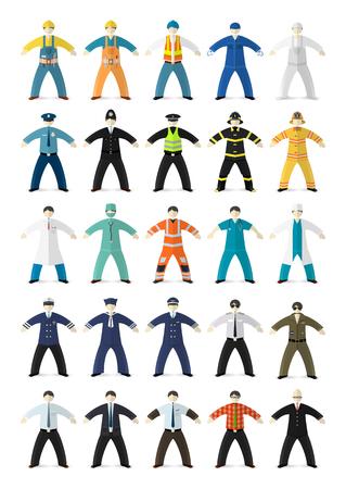 Beruf Menschen. Verschiedene Charaktere im Cartoon-Wohnung Stil. Vektor-Illustration. Standard-Bild - 38816491