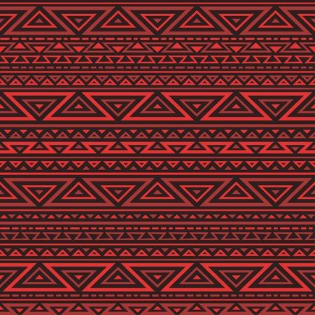 rojo oscuro: De fondo sin fisuras rojo con un adorno geom�trico. Oscuro ornamento tri�ngulo rojo.