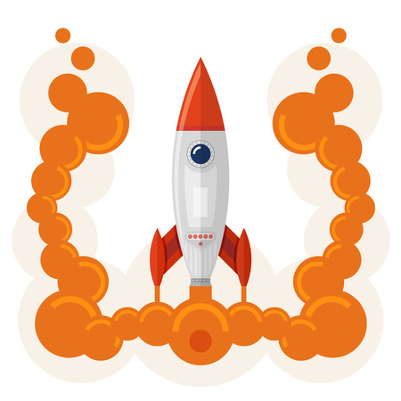 booster: lancement de fus�e comme un concept d'un d�marrage de la grande entreprise