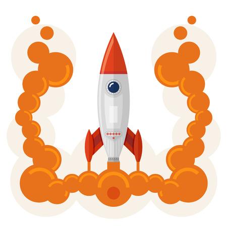 big business: Lanzamiento de un cohete como un concepto de un inicio de las grandes empresas