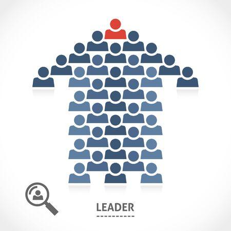 Führung konzeptionelle Illustration. Führer weiß, immer die richtige Richtung. Standard-Bild - 41852981