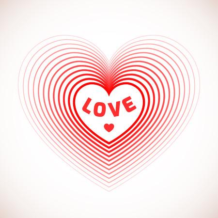 love shape: Love heart symbol for romantic card design. Very nice shape of love heart. Valentines day vector illustration.