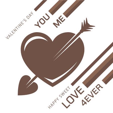 Liebe Herz mit einem Pfeil für romantische Design. Zusammenfassung Vektor-Illustration für Valentines oder Hochzeiten Tag. Standard-Bild - 51001852