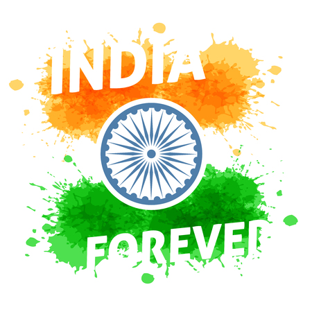 democracy: India independence day 15th of august. Holiday of freedom and democracy.