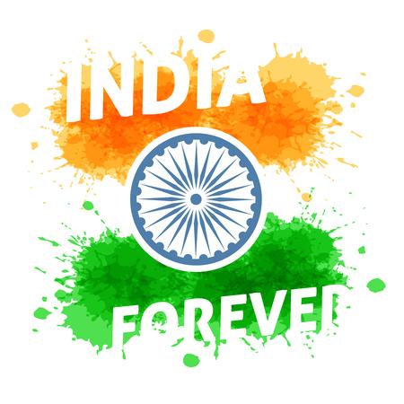 Indien Unabhängigkeitstag 15. August. Ferien von Freiheit und Demokratie. Standard-Bild - 59940051