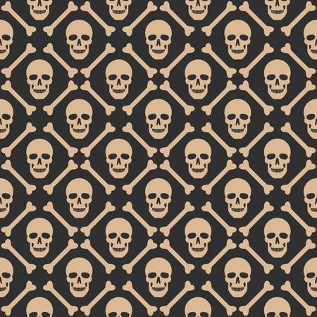 Schädel nahtlose Dunkel-Muster. Muster enthalten. Standard-Bild - 65989298
