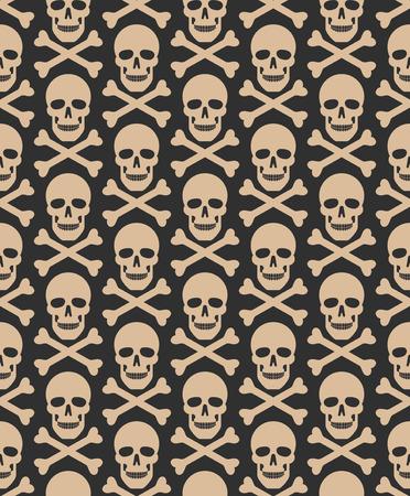 Schädel nahtlose Dunkel-Muster. Muster enthalten. Standard-Bild - 65989338