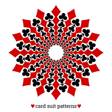 Gambling card suit poker pattern made with diamonds and clubs Ilustracja
