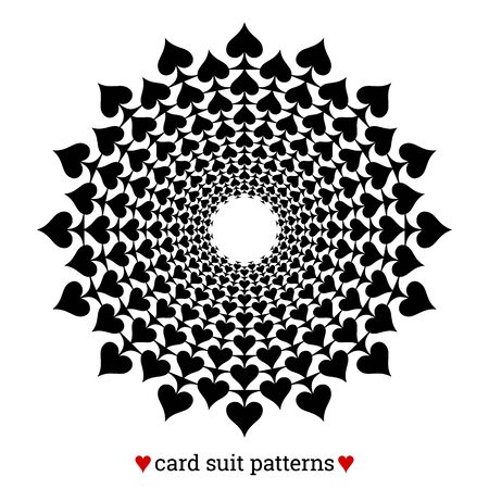 Gambling card suit poker pattern made with spades