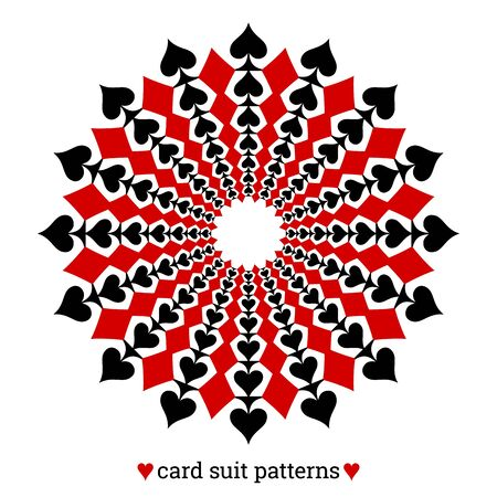 Gambling card suit poker pattern made with spades and diamonds