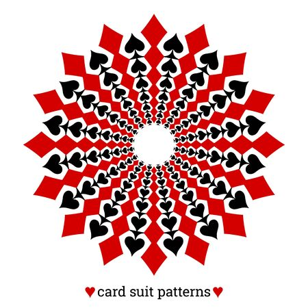 Gambling card suit poker pattern made with diamonds and spades