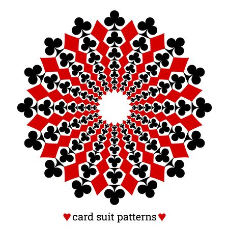 Gambling card suit poker pattern made with clubs and diamonds