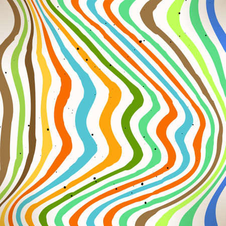 Bright colorful striped background. Abstract lined glitch pattern. Vector graphic backdrop