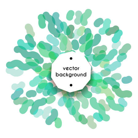 Abstract circle lined banner in watercolor style. Spring, summer or holiday minimalistic splash design. Stylized colorful firework, vector illustration