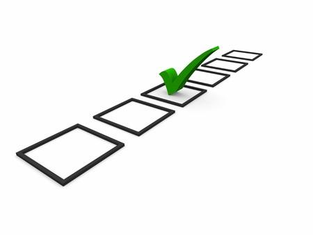 web survey: S�mbolos Lista de control Foto de archivo
