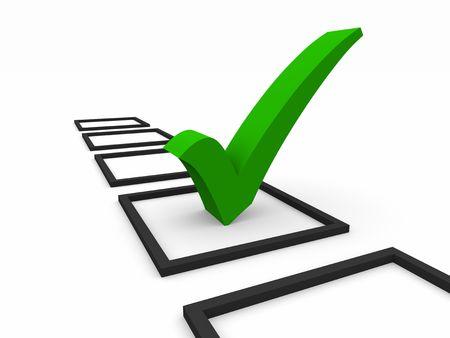 zecke: Checkliste Symbol