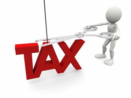 Tax cut Stock Photo
