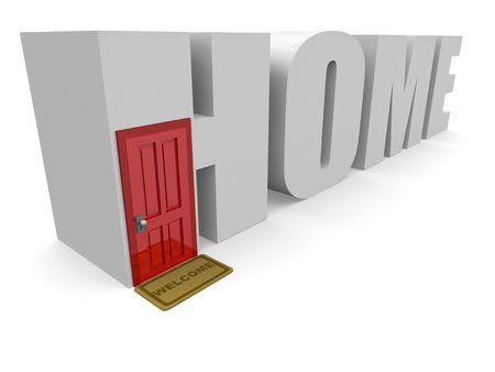 Conceptual 3d Home Stock Photo - 5959636