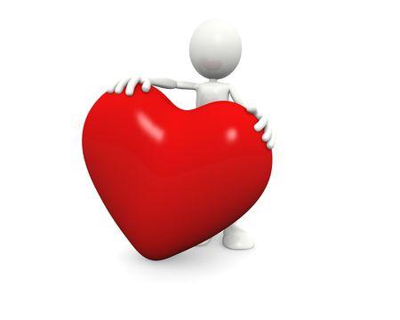 Man holds a Big Heart