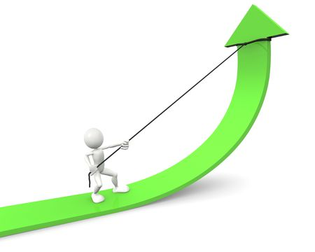 Graph Improvement Stock Photo