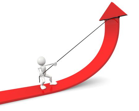 curvas: Mejora de flecha roja de gr�fico