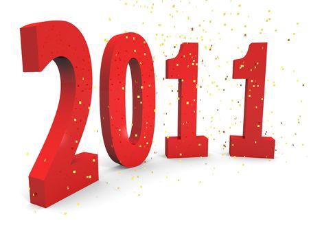 Happy 2011 Stock Photo