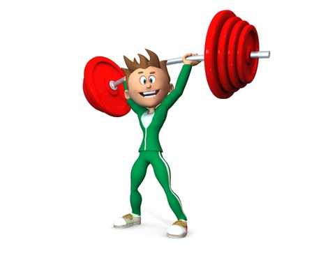 weightlifting: Weightlifter Stock Photo