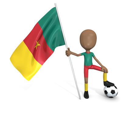 3D soccer team  Cameroon Stock Photo