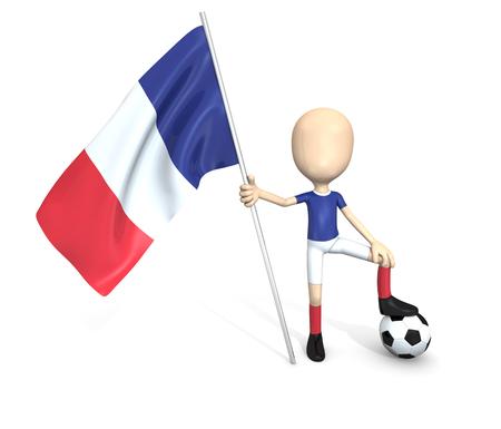 3D soccer team  France