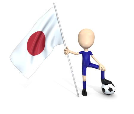 3D soccer team  Japan