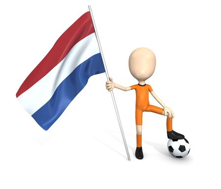 3D soccer team  Netherlands Stock Photo