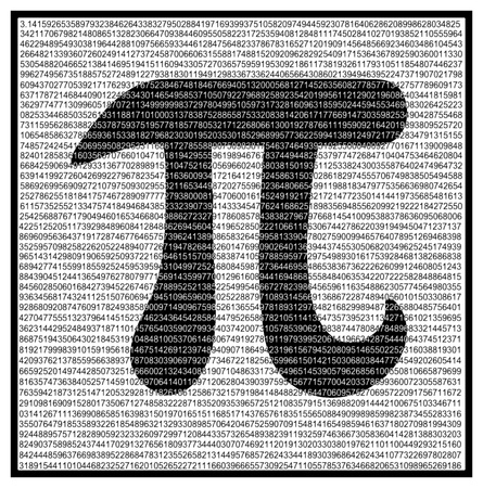 Pi Mathematical constant irrational complex number greek letter