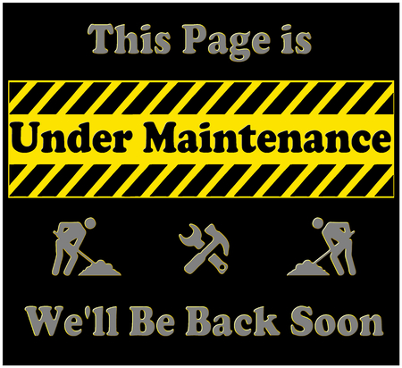 A graphic indicating that the page being visited is under construction