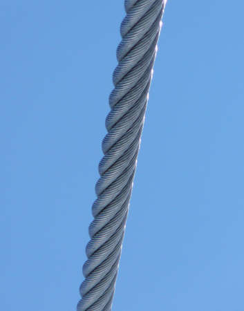 bendable: Metal cable and blue sky
