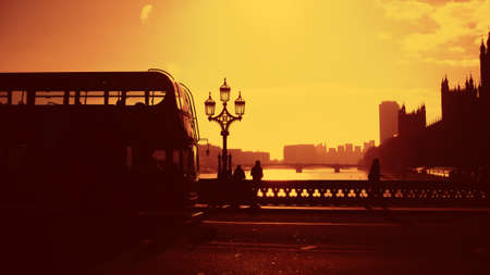 london bus abstract silhouette, design photo