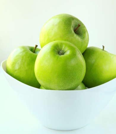 apple tart: Stylish green Granny Smith apples Stock Photo