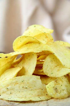 pile of ruffled potato chips  Stock Photo - 9956056