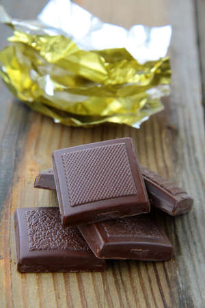 chocolate with a shiny open gold cover photo