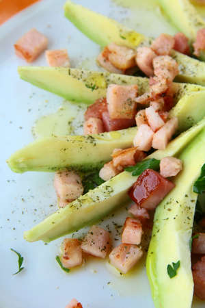 meatless: vegetable salad with avocado