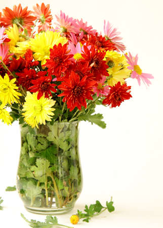 bouquet of flowers autumn in a vase photo