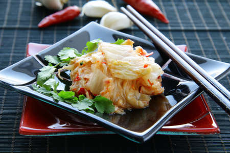 Korean food  Kimchi traditional salad  photo