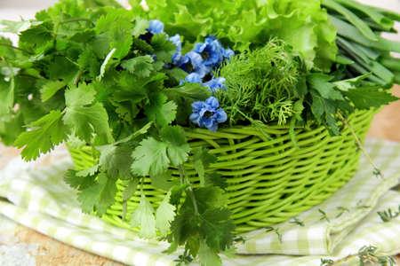 fresh green grass parsley dill onion herbs mix Stock Photo - 11768193